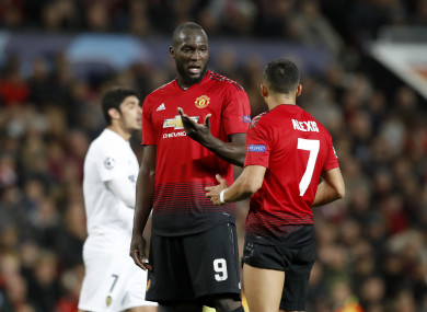 Romelu Lukaku and Alexis Sanchez will have the chance to impress on Wednesday.