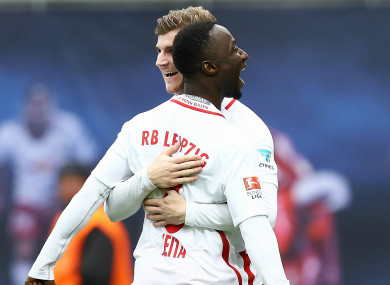 Naby Keita with Timo Werner at RB Leipzig.