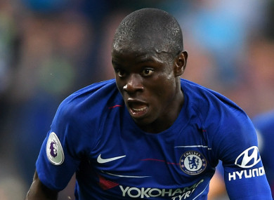 N'Golo Kante has had to relinquish the midfield anchor position this season.
