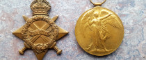 Patrick Ryan's 1914-15 Star (left) and Victory Medal (right).