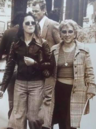 Anne O'Brien pictured with her mother Rose in Paris in 1975.