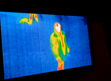 Stock photo of thermal imaging.