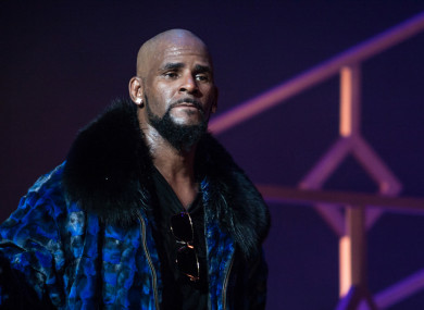R Kelly on stage at the FOX Theater, 27 December 2016 in Atlanta Georgia
