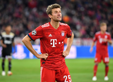 Müller helped Bayern win the Champions League in 2013 at Wembley.
