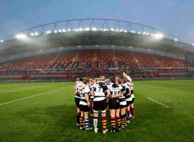 The Barbarian women's first clash was against Munster in Thomond Park in 2017.