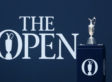 A view of the Claret Jug at last year's championship at Carnoustie.