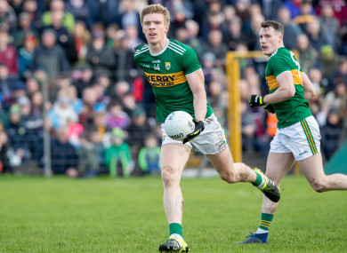 Tommy Walsh in action for Kerry against Galway at the weekend.