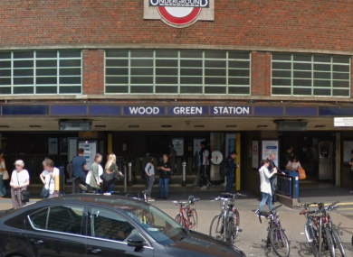 Wood Green tube station.