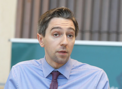 Health Simon Harris at the report launch today.