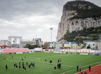 A general view of Victoria Stadium, the venue for tonight's Euro 2020 qualifier against Ireland.