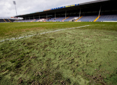 A view of the Semple Stadium goalmouth during last month's All-Ireland club football semi-final.