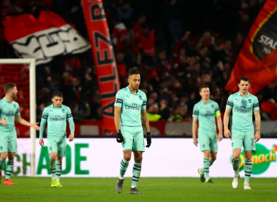 Arsenal suffered a 3-1 loss to Rennes.