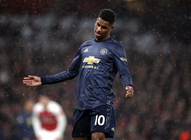 Man United's Marcus Rashford.