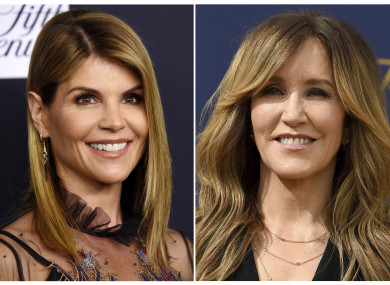 Actresses Lori Loughlin and Felicity Huffman.