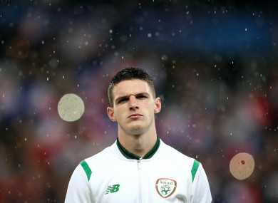 Rice lined out for Ireland's senior team three times last year.