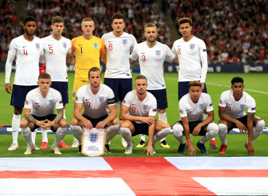 The England team (file pic).