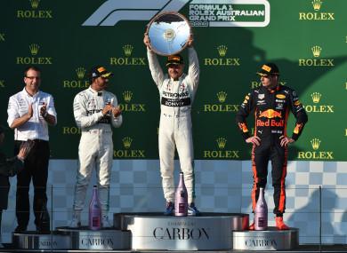 Valterri Bottas finishes top of the pile at the Australian Grand Prix.