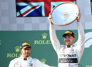 Valterri Bottas won today's Australian Grand Prix.
