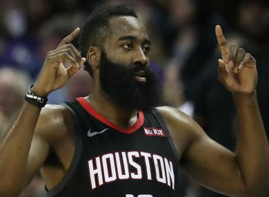 NBA MVP James Harden.
