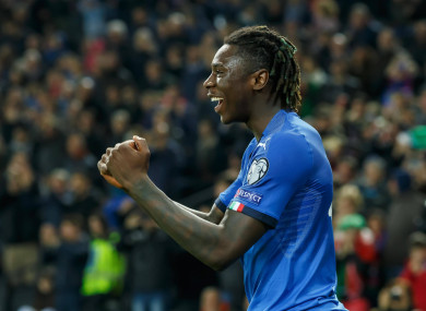Italy and Juventus striker, Moise Kean.