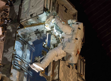 File photo. Nick Hague is one of the astronauts who'll participate in the walk instead.
