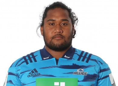Blues prop Michael Tamoaieta.