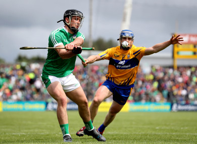 Podge Collins and Darragh O'Donovan in action during last summer's clash between the teams.