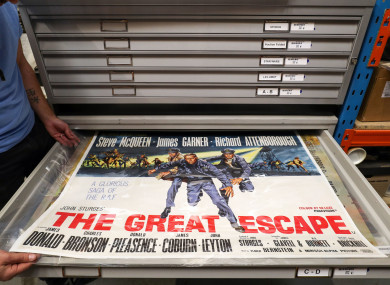 A movie poster for the 1963 film The Great Escape