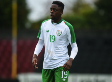 Southampton's Jonathan Afolabi scored twice for the Ireland U19s in today's win over Romania (file pic).