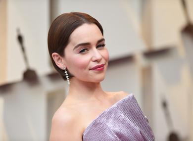 Emilia Clarke attending the Oscars last month