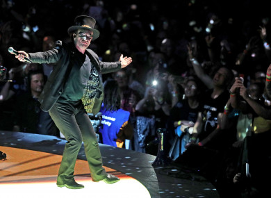 Bono performs at the U2 eXPERIENCE + iNNOCENCE Tour at London's O2 Arena.