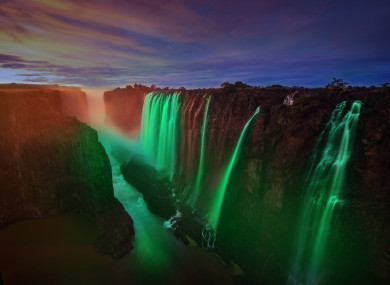 Victoria Falls, one of hundreds of locations that will take part in this year's Global Greening initiative