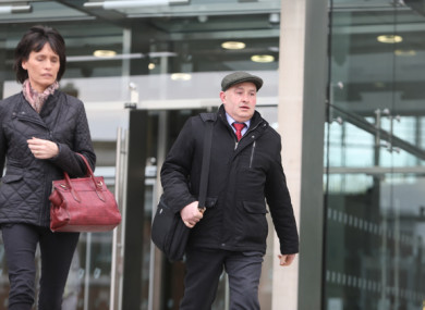 Farmer Patrick Quirke leaving court today
