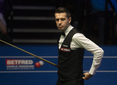 Selby during his match against Gary Wilson.