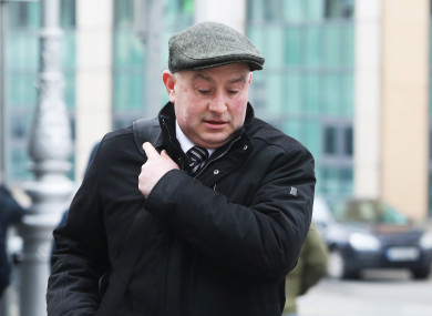 Murder accused Patrick Quirke arrives at the.Central Criminal Court Dublin.