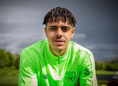 Andrew Omobamidele pictured at the Republic of Ireland U17 Media Day.