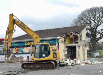 The scene of the robbery in Dungiven, Derry, last weekend.