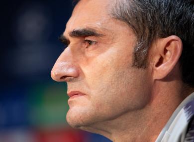 Barcelona boss, Ernesto Valverde.