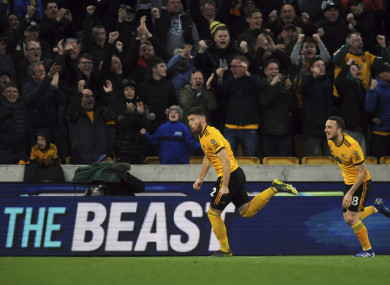 Matt Doherty celebrates his goal.
