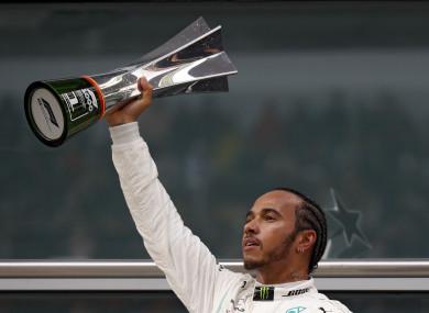 Lewis Hamilton celebrates (file pic).