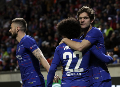 The Chelsea winner arrived with just four minutes of normal time to play.