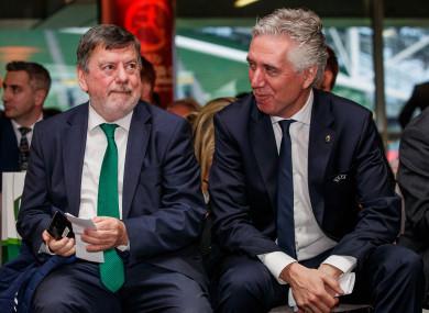 FAI President Donal Conway and John Delaney, former CEO.