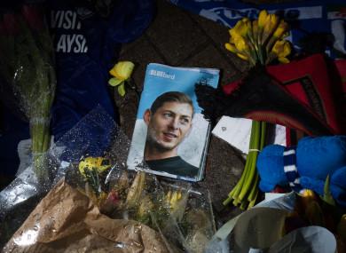 Tributes at Cardiff City Stadium for Emiliano Sala