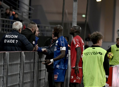 Prince Gouano approached the supporters.