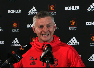 The Man United manager during this morning's press conference.