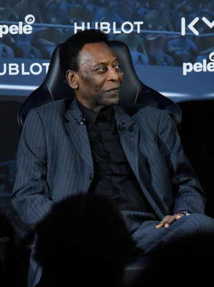 Brazilian football legend, Pele.