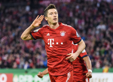 Lewandowski scored a late-winner for the German champions.
