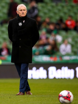 John Caulfield before the 2018 FAI Cup final.