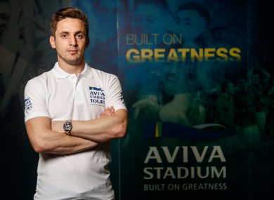 Kevin Doyle pictured at the Aviva Stadium Tour launch today.