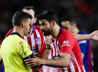 The suspension was handed out today to Diego Costa.